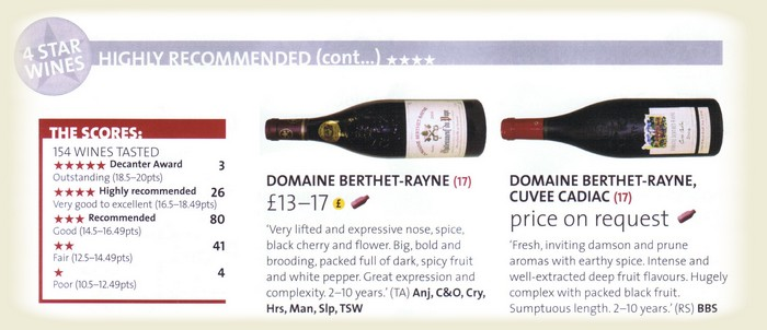 commentary in Decanter