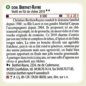 2 stars to the 2013 Hachette wine book